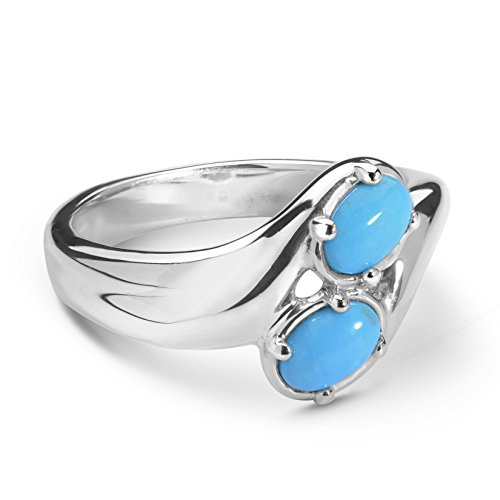Carolyn Pollack - Sterling Silver & Sleeping Beauty Turquoise Ring - 8 - CP Sleeping Beauty Collection