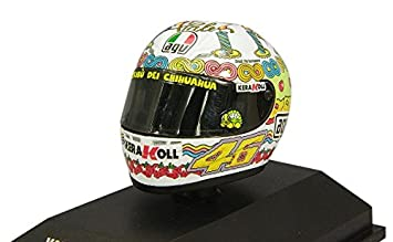Minichamps Casco AGV Valentino Rossi MotoGP 2008 Cumpleaños Vale Escala 1: 8