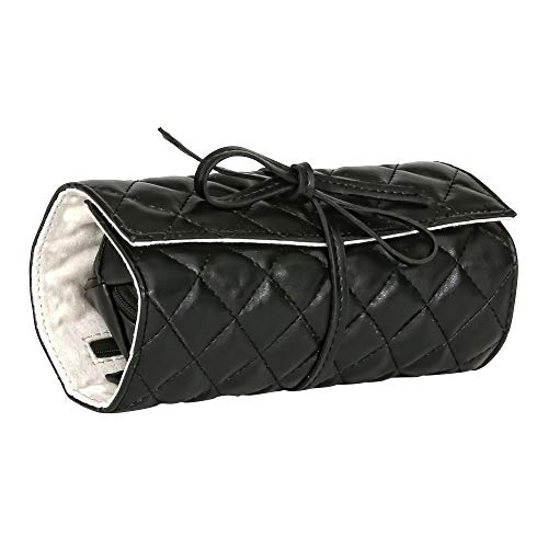 Mele & Co. Whitley Travel Jewelry Roll in Black Faux Leather
