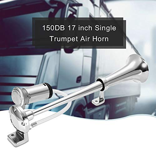 Sortim Universal Single Train Trumpet 12V Car Air Horn Compressor with Super Loud 150DB