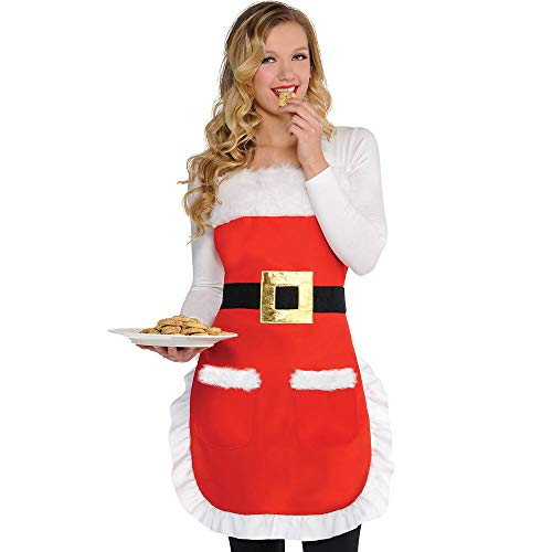 Christmas Santa Suit Fabric Apron | Party Costume