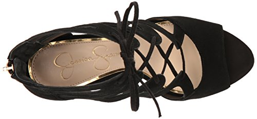 Sandalo Donna Jessica Mitta Nero Simpson Tacco Fq1xvOg