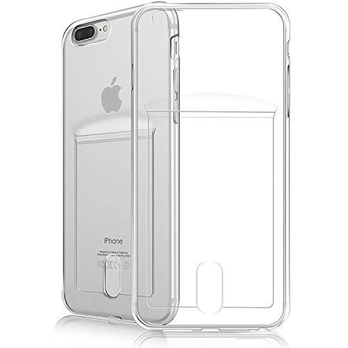 iPhone 7 Plus Case,iPhone 8 Plus Case,Fogeek [Slim Fit][Support Wireless Charging] Protective Soft TPU Anti-Scratch & Shockproof Flexible Bumper Case with Card Slot Compatible for iPhone 7/8 Plus