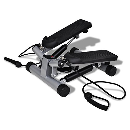UBaymax Exercise Sports Twist Stepper,Cardio Swivel Step Swing Trainer with Adjustable Resistance Control and Rope,Fitness Stair Machine for Workout Training Home Gym