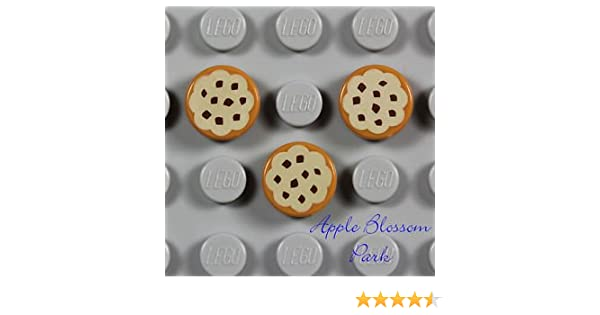 Seven 1x1 Chocolate Cookies // Cake ID 15828 Lego Printed Tile NEW