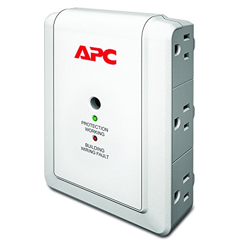 Surgearrest Essential Surge Suppressor (APC 6-Outlet Wall Surge Protector 1080 Joules, SurgeArrest Essential)