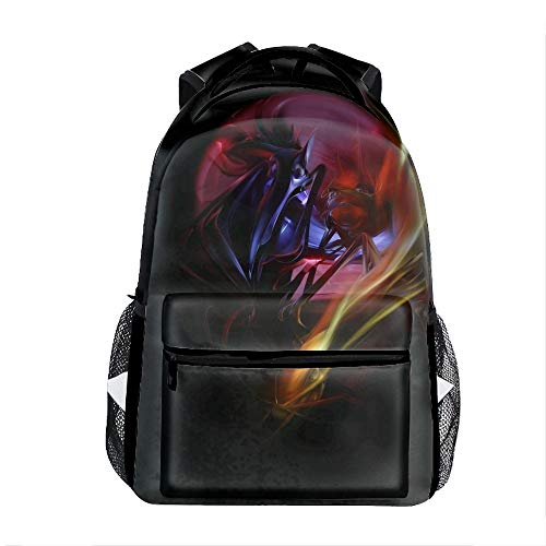 3D Printing Cast Planet Dark Blurred School Bookbag Travel Backpack 11.5x8x16