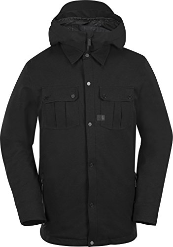 Volcom Snow  Men's Creedle2Stone Jacket Black (Vent Shell Snowboard Pants)