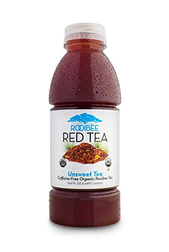 Rooibos Tea by Rooibee Red Tea , Caffeine Free , Organic Unsweetened Tea 16.9 fl oz Bottled Tea (Case of - Red Rooibos Tea