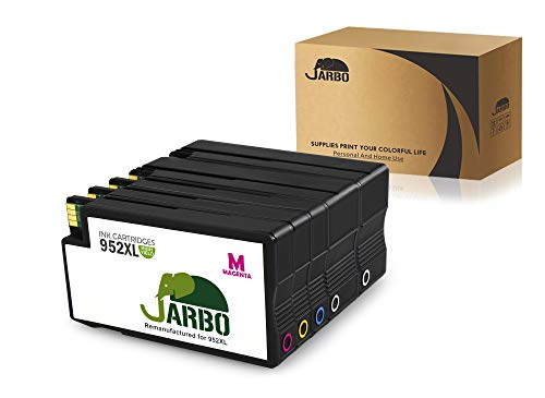 JARBO 952XL Remanufactured for HP 952 Ink Cartridge High Yield, 5 Packs(2 Black, 1 Cyan, 1 Magenta, 1 Yellow), Use in HP OfficeJet Pro 8710 8720 8730 8740 7740 8210 8216 8218 8715 8725 Printer by JARBO