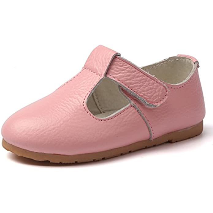 MIGO BABY Child's Gril's Leather T-Shaped Strap Oxford Shoes School Dress Princess Mary Janes Shoes
