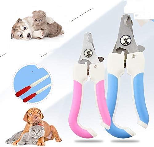 Límite-MX Pet Grooming Scissors,Cortaúñas y reCortador de uñas para mascotas, Tijeras de uñas para mascotas Paw acicalado podadoras con protector de seguridad para evitar el exceso de corte para cachorro perrito gatito (Rosa) 8