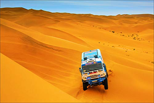 Price comparison product image Kamaz Desert Rallying Cars Wall Art,  Pop Art,  Poster