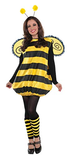 Cute Bumble Bee Halloween Costume (AMSCAN Darling Bee Halloween Costume for Women, Standard, with Included)