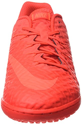 NIKE Herren Hypervenomx Finale IC  Sneakers Rot (Bright crimson/hyper orange)