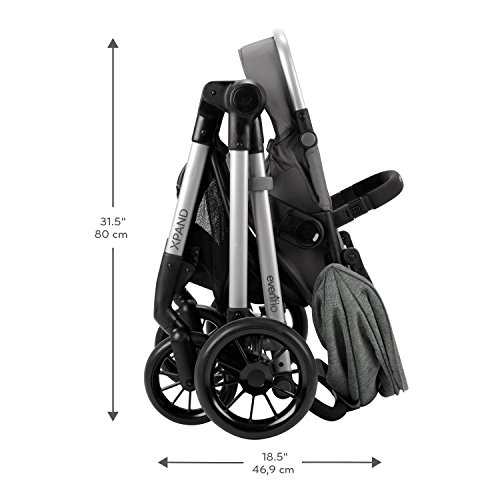 41%2ByuJTPLzL - Pivot Xpand, Modular Baby Stroller, Converts To Double Stroller (Additional Toddler Seat Not Included), Percheron Gray