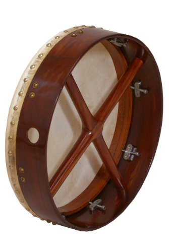 Bodhran, 14''x3.5'', Tune, Rosewood, Cross by Mid-East