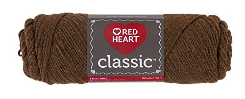 Red Heart Classic Yarn, Mid Brown