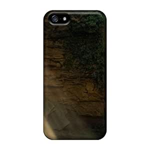 Awesome LastMemory Defender Tpu Hard Case Cover For Iphone 5/5s- Limestone Cave Waterfall Spain