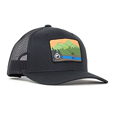 58637caa7 Amazon.com : Fly Fishing Hat - The Billy River Patch - Trucker Hat ...
