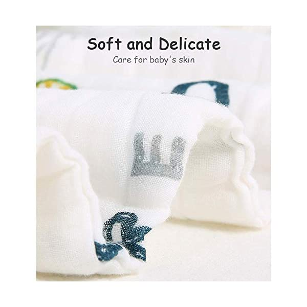 Caiery Copertine in Mussola/Mussole Neonato 110CMx110CM /Asciugamani Bimbo/Baby Bath Towel, 100% Mussola Cotone… 7