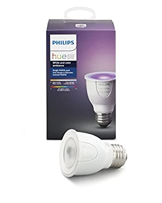 Philips Hue White and Color Ambiance PAR16 Dimmable LED Smart Spot Light, Works with Amazon Alexa