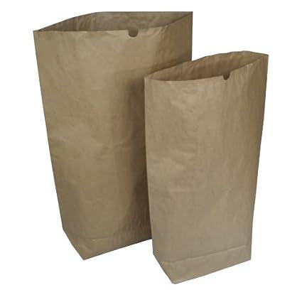 Papiersäcke Papierbeutel Bio Müllsäcke 2 Varianten 120 L oder 70 L STÜCKZAHL WÄHLBAR (10 Stück 70 Liter) as-kartons