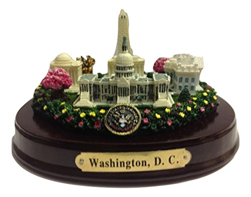 Washington DC Panorama Model with Great Seal and Cherry Bloosom Trees Paperweight 6