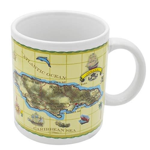 Mug Jamaica Gift and Souvenir Antique Map Ceramic Coffee Mug and Tea Cup 11 Ounce