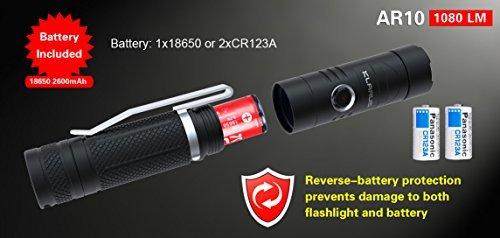 (Klarus Flashlight, Newest Design AR10 USB Rechargeable Flashlight)