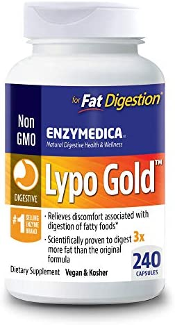 Enzymedica, Lypo Gold, Keto Supplement to Support Fat Digestion, Vegan, Non-GMO, 240 Capsules (240 Servings) 1