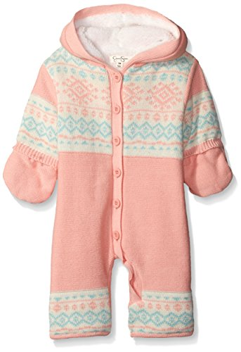 Jessica Simpson Baby Girls' Sweater Knit Pram with Jersey Lining, Impatiens Pink, 12 Months