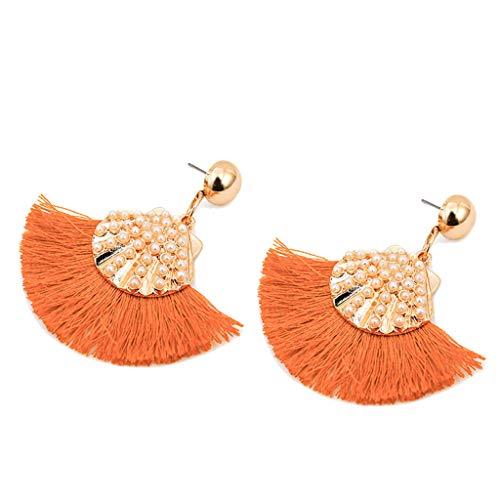Fashion Drop Dangle Girls Boho Earrings,Londony◈ Bohemian Retro Rose Gold Tassel Earrings Pink Fringe Gifts for Ladies. ()