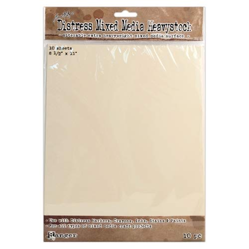 Tim Holtz Distress Mixed Media Heavy Stock Paper, 8.5 x -