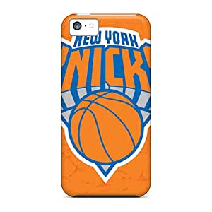 Shock-Absorbing Hard Phone Case For Iphone 5c With Unique Design Trendy New York Knicks Pictures ErleneRobinson