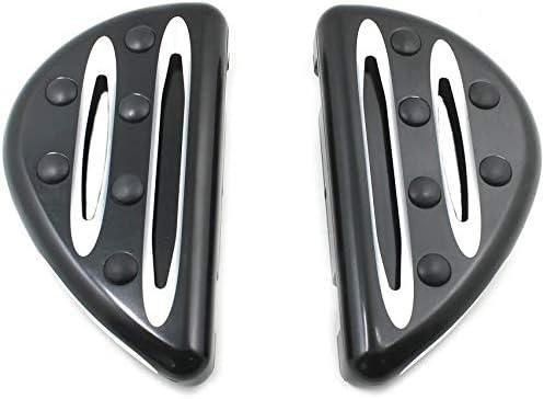 Moto Fat Repose-Pieds p/édales bloc de p/édale//CNC Homme Mont Pied Pegs Floorboard for Harley Touring FLH Road King Dyna Sportster XL-Noir