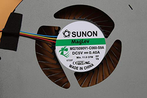 MG75090V1-C060-S9A 4-Wire Z-one Replacement CPU Fan Compatible Dell Alienware 17 R4 R5 Series Laptop
