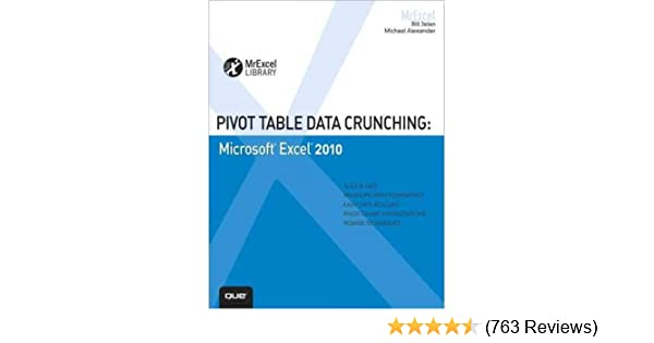 pivot table data crunching for microsoft office excel 2007 michael alexander