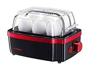 Severin 3156 - Nuevo Cuece Huevos Negro Rojo Metálico