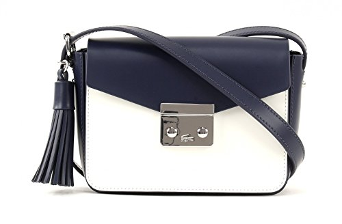LACOSTE Mini Tennis Square Crossover Bag Peacoat White