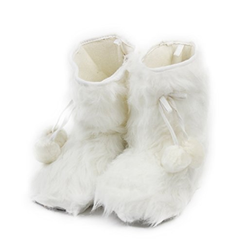 - Home Slipper House Indoor Booties Slippers, Women's Fun Winter Warm Long Plush Fleece Fringes Pom-Pom Booties Slippers Shoes,Size M