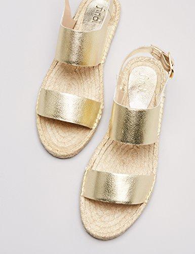 FIND Sandales Plates Femme Or (Gold) DNs6x5vfT6