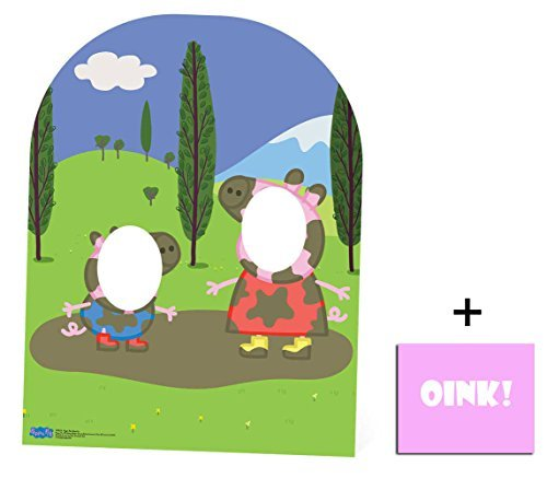 Fan Pack - Peppa Pig & George Muddy Puddle Child Size Stand-in Cardboard Cutout 2D Standup / Cutout Plus 20x25cm Photo by BundleZ-4-FanZ Fan Packs by Starstills by BundleZ-4-FanZ Fan Packs by Starstills