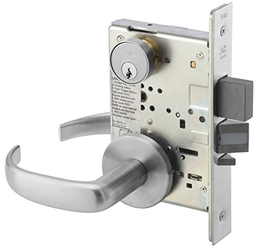 (Yale PBR 8847FL 626 Heavy Duty Mortise Lockset, Lever, Apartment Corridor Lock)