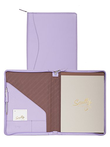 Scully Soft Lamb Leather Zip Letter Pad (Lavender) (Scully Letter Leather)