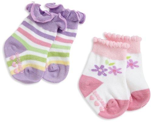BabyLegs Baby-girls Newborn Lavender and Lace Socks