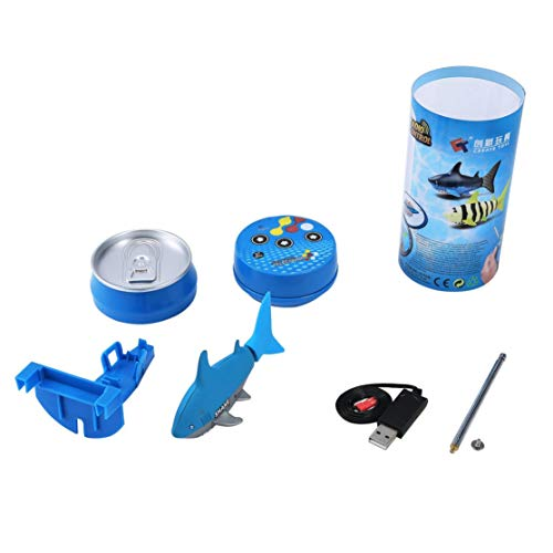Price comparison product image Mini RC Submarine 4 CH Remote Small Sharks Remote Control Toy With USB Christmas Children Kids Gift Unique Packaging