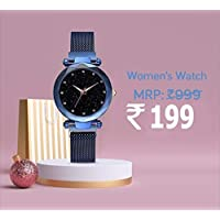 Avicii Diamond Series Blue Magnet Analogue Watch for Women's and Girl's Pack of - 1(AVD170)