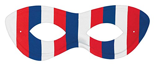 Patriotic Fourth of July Red, White and Blue Domino Mask Accessory, Plastic, 2