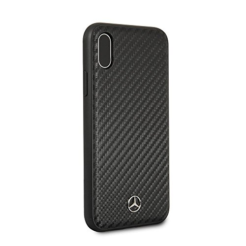 Mercedes Benz iPhone X - by CG Mobile - Black Cell Phone Case PU Carbon Fiber | Easily Accessible Ports | Officially Licensed.